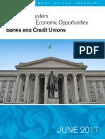 A Financial System - Treasury Secretary Mnuchin Report #1