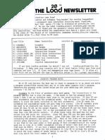 20 the Load Newsletter - Vol.01!01!1983 Apr Short Version