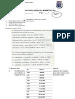 Evaluación Período Diagnóstico Matemática 7mo Año