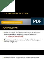 toleransi imunologi