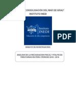 Análisis de La Recaudación Tributaria en El Perú