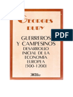 Duby Georges - Guerreros Y Campesinos - Desarrollo