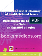 Diccionario de Terminos de Salud en Español e Ingles