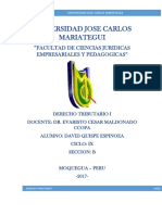 Obligaciones de La Administracion Tributaria Quispe Espinoza David Ix - b