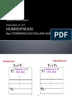 1 & 2 Pengertian & Terminologi Dalam Humidifikasi