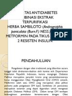Aktivitas Antidiabetes Kombinasi Ekstrak Terpurifikasi