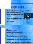 Interactive Color Code Slide Show
