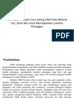 Penerapan Metode Cross-Selling CRM Pada Website Cari_Store
