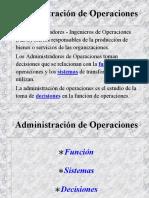 1. Administración de Operaciones