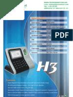 ctrl de asistencia ZK TAC1290(H3)