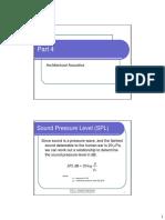 Part 4 - Architectural Acoustics - Handout