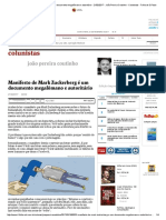 Manifesto de Mark Zuckerberg é um documento megalômano e autoritário - 21_02_2017 - João Pereira Coutinho - Colunistas - Folha de S.pdf
