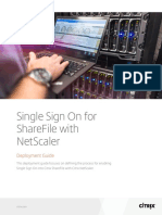 Single Sign on for Sharefile With Netscaler