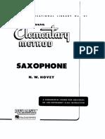 Saxofone - Método - Rubank - Livro 1 - Básico