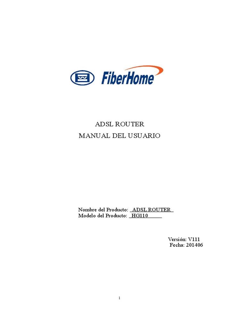 HG110-ADSL Wireless Router Manual Del Usuario (Fiberhome)