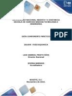 Guia Para El Desarrollo Del Componente Práctico de Fisicoquimica
