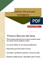 9) Elementos Del Proceso Investigativo (Síntesis)