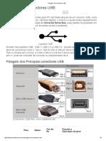 Pinagem de Conectores USB