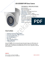 Specifications of Hikvision DS-2CE56D0T-IRP Dome Camera-Securekart