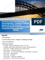 Revision and Amendments of International L-category Vehicle Approval in the Area of Environmental Performance and Propulsion Requirements