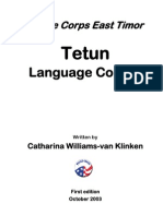 US. Peace Corps Tetun Language Course