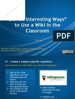 Ten Interesting Ways to Use a Wiki in the Clas c89a5b899f872