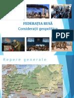 Capitolul 11 Federatia Rusa Geopolitica 2017