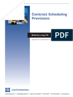 Long Intl Contract Scheduling Provisions