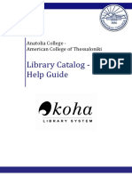 Anatolia Libraries - Catalog Help Guide