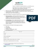 KPI Assessment Form