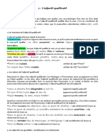Leçon 2 - Les Adjectifs Qualificatifs