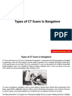 Types of CT Scans in Bangalore