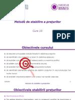 Curs 10 Metode de Stabilire a Preturilor (1)