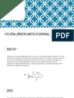 Cocaína (Benzoilmetilecgonina)
