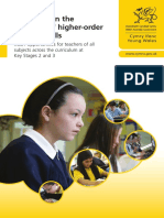 Guidance on Teaching Higher Order Reading Skills