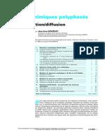 Réacteurs Chimiques Polyphasés - Couplage Réaction-diffusion