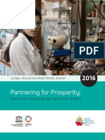 Partnering for Prosperity - Education for Inclusive and Green Growth