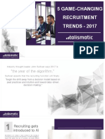 5 Game-changing Recruitment Trends - 2017 by Talismatic