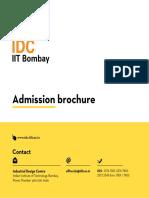 M.des Admission Brochure 2016