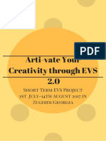 Infopack_Arti-Vate Your Creativity Through EVS 2.0