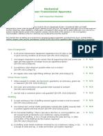 Mechanical Power Transmission checklist