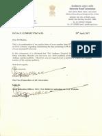 0979850 UGC Letter Reg Public Display of Aadhaar