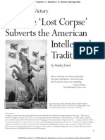 Fidelio - How the 'Lost Corpse' Subverts the American Intellectual Tradition
