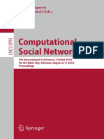 (LNCS 9795) Hien T. Nguyen, Vaclav Snasel (Eds.)-Computational Social Networks_ 5th International Conference, CSoNet 2016, Ho Chi Minh City, Vietnam, August 2-4, 2016