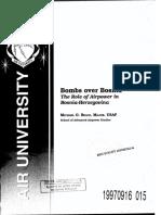 Bombs Over Bosnia