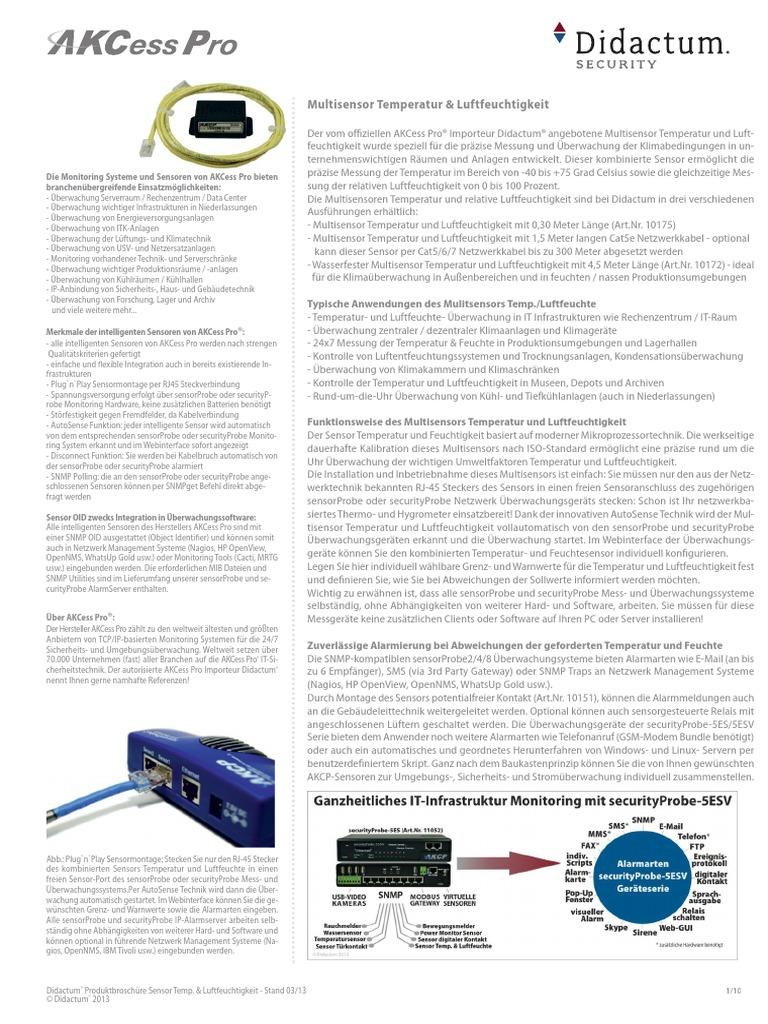 Multisensor Temperatur Und Luftfeuchte Prazise Messung Der