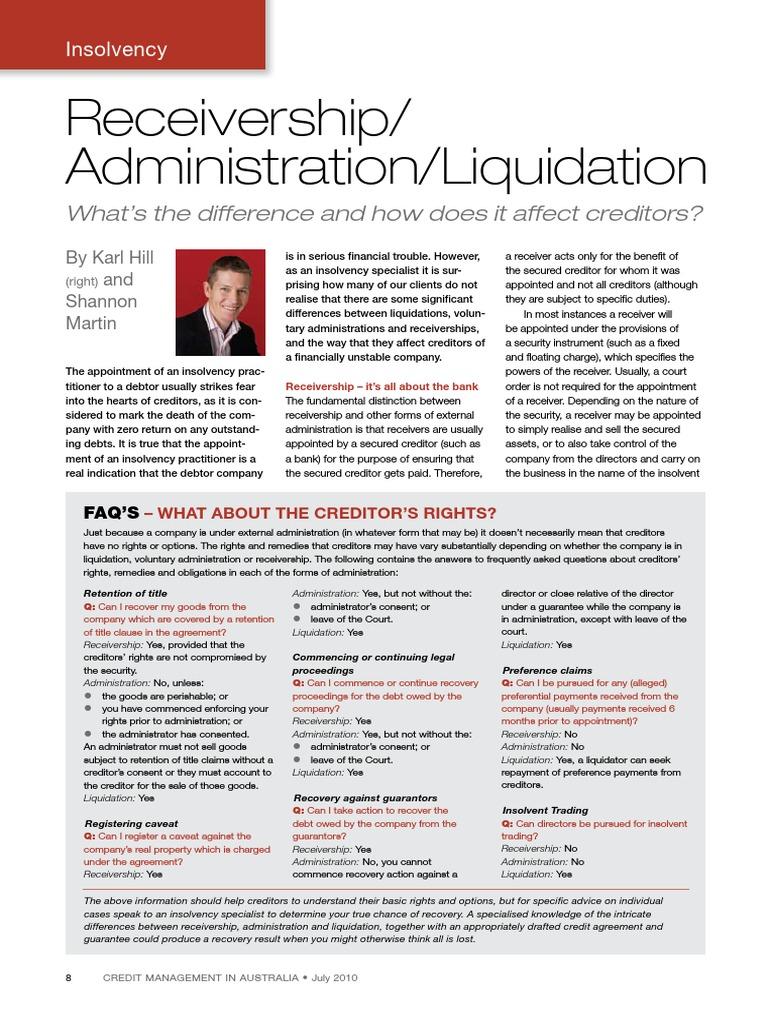 Liquidating prior obligations