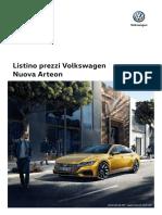 Listino Volkswagen Arteon