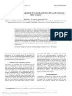 Nutritional Management of Surgical Patients Enhanced Recovery After Surgery