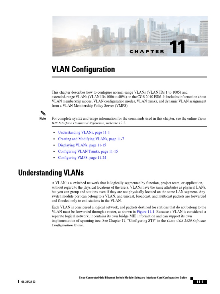 Config Vlans | Network Switch | Telecommunications Standards